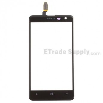 For Nokia Lumia 625 Digitizer Touch Screen Replacement - Black - With Logo - Grade S+