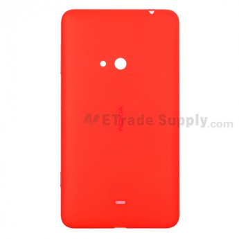 For Nokia Lumia 625 Battery Door Replacement - Orange - Grade S+