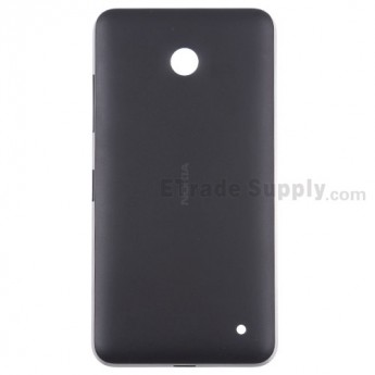 For Nokia Lumia 630 Battery Door Replacement - Black - With Nokia Logo Only - Grade S+