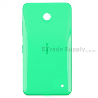 For Nokia Lumia 630 Battery Door Rplacement - Green - With Nokia Logo Only - Grade S+