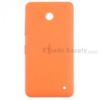 For Nokia Lumia 630 Battery Door Replacement - Orange - With Nokia Logo Only - Grade S+