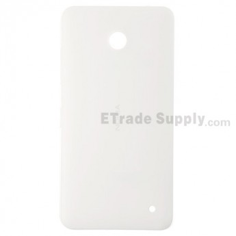 For Nokia Lumia 630 Battery Door Replacement - White - With Nokia Logo Only - Grade S+