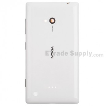 For Nokia Lumia 720 Battery Door Replacement - White - Grade S+