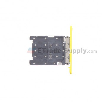 For Nokia Lumia 720 SIM Card Tray Replacement ,Yellow - Grade S+