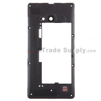 For Nokia Lumia 730 Dual SIM Middle Frame Replacement - Black - Grade S+