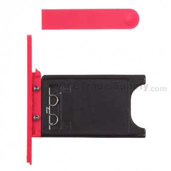 For Nokia Lumia 800 SIM Card Tray and Charging Port Cover Replacement  ,Red - Grade S+