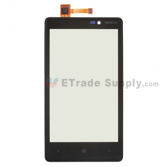 For Nokia Lumia 820 Digitizer Touch Screen with Front Housing  Replacement - Without Logo - Grade S+