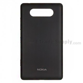 For Nokia Lumia 820 Battery Door Replacement - Black - Grade S+