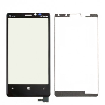 For Nokia Lumia 920 Digitizer Touch Screen with Adhesive Replacement - With Logo - Grade S+
