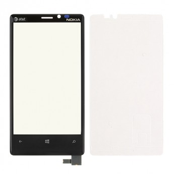 For Nokia Lumia 920 Digitizer Touch Screen with Adhesive and Light Guide  Replacement - With Logo - Grade S+