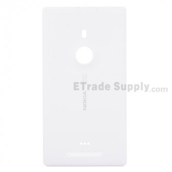For Nokia Lumia 925 Battery Door Replacement - White - With Logo - Grade S+