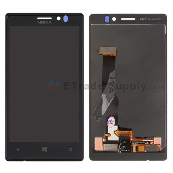 For Nokia Lumia 925 LCD Screen and Digitizer Assembly Replacement - Black - With Logo - Grade S+