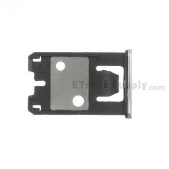 For Nokia Lumia 925 SIM Card Tray  Replacement - Silver Gray - Grade S+