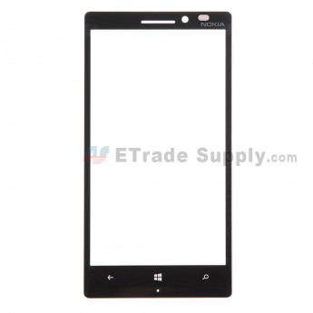 For Nokia Lumia 930 Glass Lens Replacement - Black - With Logo - Grade S+