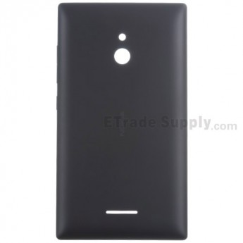 For Nokia XL Rear Housing  Replacement - Black - With Nokia Logo Only - Grade S+