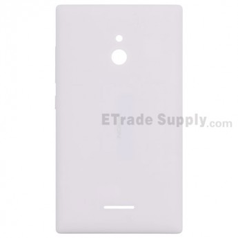For Nokia XL Rear Housing  Replacement - White - With Nokia Logo Only - Grade S+