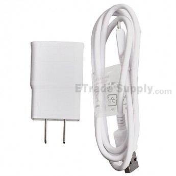 For Samsung Galaxy Note 3 Series Charger and USB Data Cable - White - Grade S+