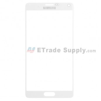 For Samsung Galaxy Note 4 Samsung-N910 Glass Lens Replacement - White - With Logo - Grade S+