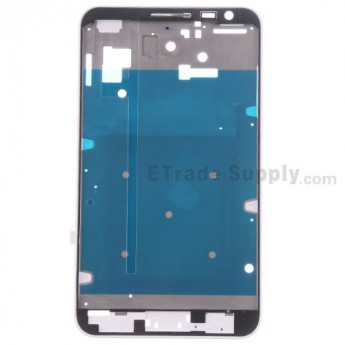 For Samsung Galaxy Note GT-N7000 Front Housing with Middle Plate Replacement - White - Grade S+