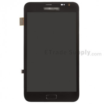 For Samsung Galaxy Note GT-N7000 LCD Screen and Digitizer Assembly with Front Housing Replacement - Black - Grade S+