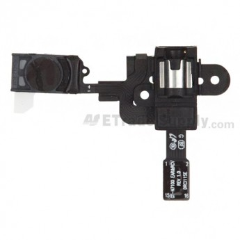 For Samsung Galaxy Note II N7100/SGH-T889/SCH-R950 Earphone Jack Flex Cable Ribbon with Ear Speaker Replacement - Grade S+