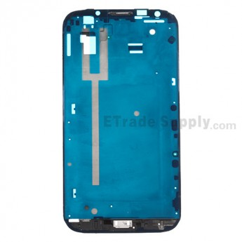 For Samsung Galaxy Note II SCH-I605/SPH-L900 Front Housing Replacement - Gray - Grade S+