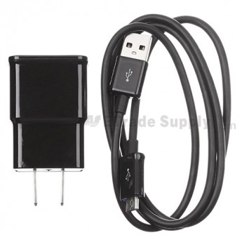 For Samsung Galaxy Note Series Adapter and USB Data Cable - Black - Grade S+
