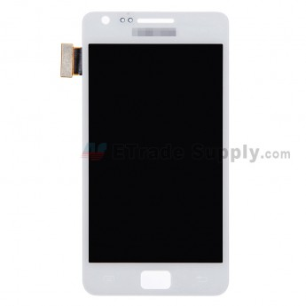 For Samsung Galaxy S2 Plus GT-I9105 LCD Screen and Digitizer Assembly Replacement - White - Grade S