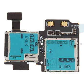 For Samsung Galaxy S4 GT-I9500 SIM Card and SD Card Reader Contact Replacement - Grade S+