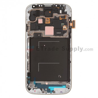 For Samsung Galaxy S4 GT-I9505/I9515/L720T LCD Screen and Digitizer Assembly with Front Housing Replacement - Black - Grade S