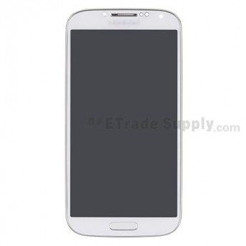 For Samsung Galaxy S4 GT-I9505/SPH-L720T LCD Screen and Digitizer Assembly with Front Housing Replacement - White - Grade S+