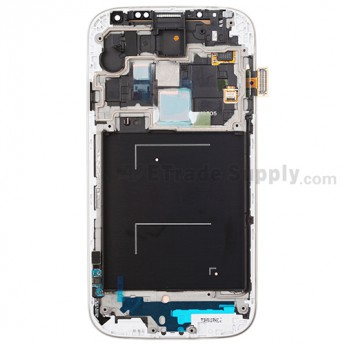 For Samsung Galaxy S4 GT-I9505/I9515/L720T LCD Assembly with Front Housing Replacement - Sapphire - With Logo - Grade S