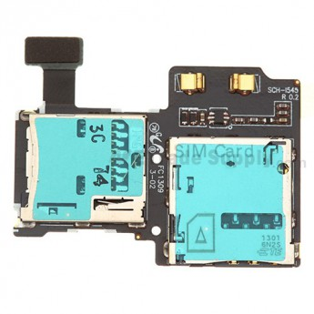 For Samsung Galaxy S4 SCH-I545 SIM Card and SD Card Reader Contact  Replacement - Grade S+