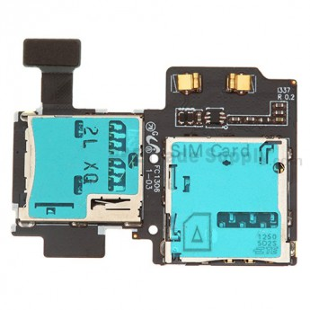 For Samsung Galaxy S4 SGH-I337 SIM Card and SD Card Reader Contact  Replacement - Grade S+