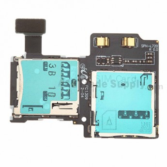 For Samsung Galaxy S4 SPH-L720 SIM Card and SD Card Reader Contact Replacement - Grade S+
