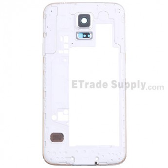 For Samsung Galaxy S5 SM-G900F Rear Housing Replacement - White - Grade S+