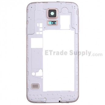 For Samsung Galaxy S5 SM-G9006V Rear Housing Replacement - Gold - Grade S+