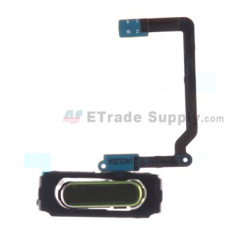 For Samsung Galaxy S5 Mini SM-G800F/G800H Home Button with Flex Cable Ribbon Replacement - Black - Grade S+