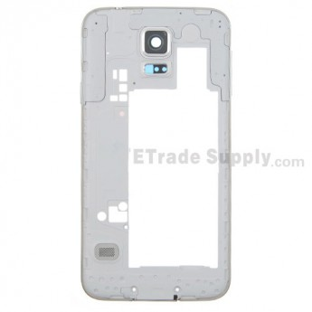 For Samsung Galaxy S5 SM-G900H Rear Housing Replacement - White Ear Speaker Mesh Cover - Grade S+
