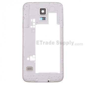 For Samsung Galaxy S5 SM-G900P Rear Housing Replacement - White - Grade S+