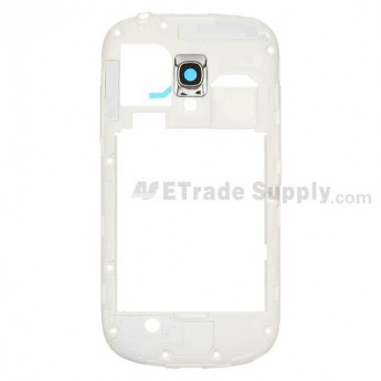 For Samsung Galaxy S III Mini I8190 Rear Housing Replacement - White - Grade S+