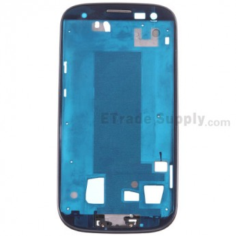 For Samsung Galaxy S III (S3) GT-I9300 Front Housing Replacement - Gray - Grade S+