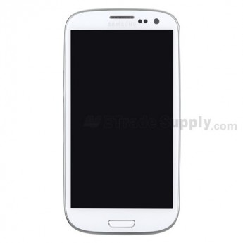 For Samsung Galaxy S III SCH-I535 LCD Screen and Digitizer Assembly with Front Housing Replacement - White - Grade S