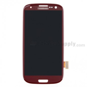 For Samsung Galaxy S III GT-I9300/I9305/T999/I747/R530/I535/L710 LCD Screen and Digitizer Assembly Replacement - Red - Grade S+