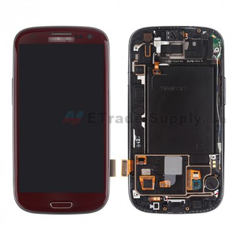 For Samsung Galaxy S III SGH-I747/T999 LCD Screen and Digitizer Assembly with Front Housing Replacement - Red - Grade S+