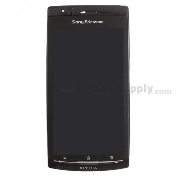 For Sony Ericsson Arc LT15a LCD Screen and Digitizer Assembly with Front Housing Replacement - Black - With Logo - Grade S+