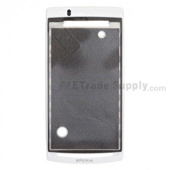 For Sony Ericsson Xperia Arc S LT18i Front Housing with Adhesive Replacement ,Silver - Grade S+