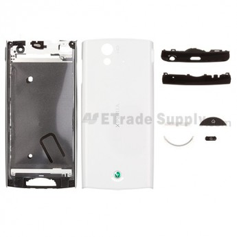 For Sony Ericsson Xperia Ray ST18i Complete Housing Replacement - White - Grade S+