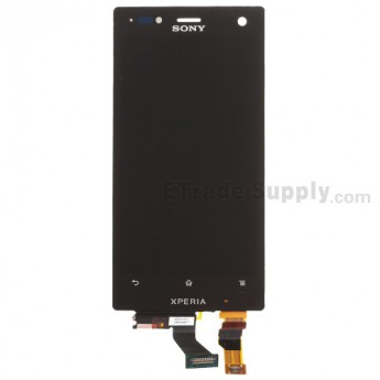 For Sony Xperia Acro S LT26w LCD Screen and Digitizer Assembly Replacement - Black - With Logo - Grade S+