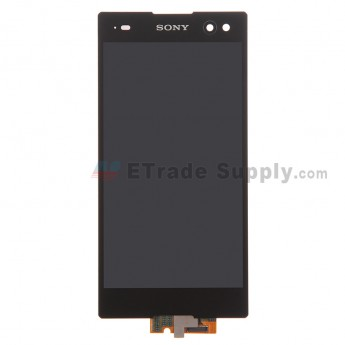 For Sony Xperia C3 LCD Screen and Digitizer Assembly Replacement - Black - With Logo - Grade S+